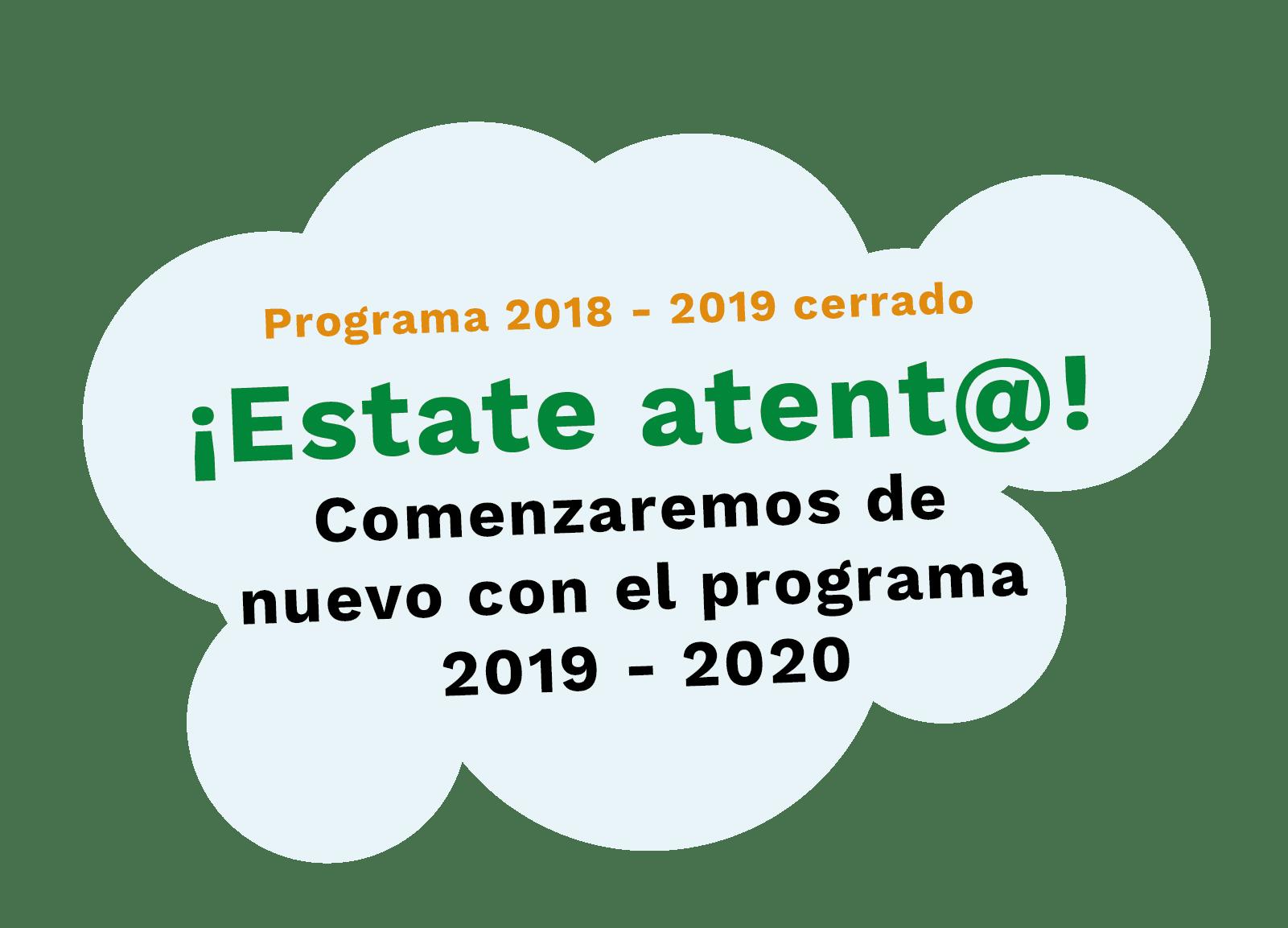 Programa 2018-2019 cerrado